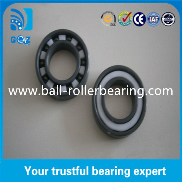 6011 2RS Sealed Full Ceramic Bearings Low Friction Coefficient 2.5mm - 16mm Width