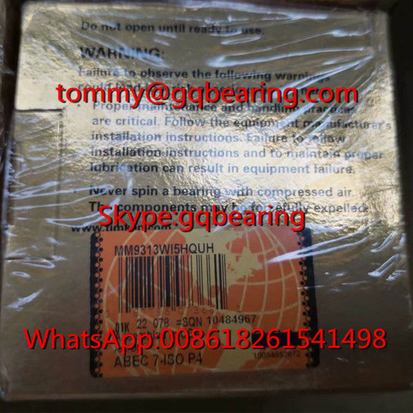 Gcr15 Steel Material ABEC7 Precision TIMKEN MM9313WI5HQUH Ball Screw Support Bearing 57.2x90x15.88mm